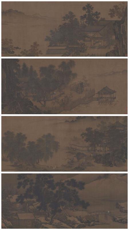 四景山水图