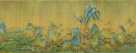 千里江山图(局部)